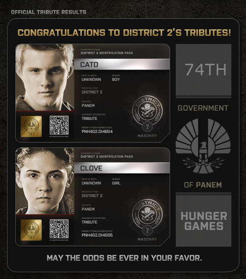 The Capitol PN ID Cards for Hunger Games Tributes