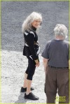 "Lynn Cohen relaxes behind the scenes of ""Hunger Games Catching Fire"" filming on location in Atlanta"