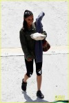 "Meta Golding relaxes behind the scenes of ""Hunger Games Catching Fire"" filming on location in Atlanta"