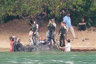CATCHING FIRE PHOTOS: Jennifer, Shirtless Josh and FIRST LOOK of Johanna Mason!