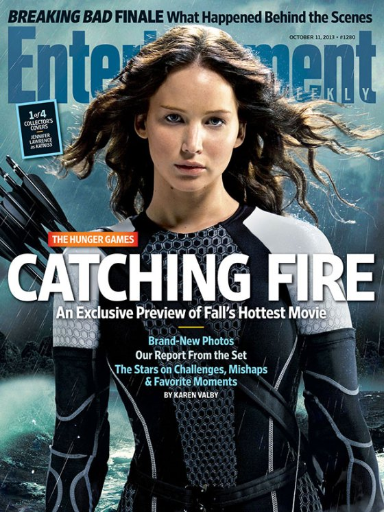 Jennifer Lawrence as Katniss Everdeen in Entertainment Weekly October 2013 issue