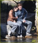 THE GAMES HAVE BEGUN! Jennifer Lawrence and Liam Hemsworth get close as they film the 3rd installment of the 'Hunger Games' in Atlanta