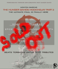 SOLD OUT!! (#NONBARIHGFINALE) THE HUNGER GAMES: MOCKINGJAY PART 2